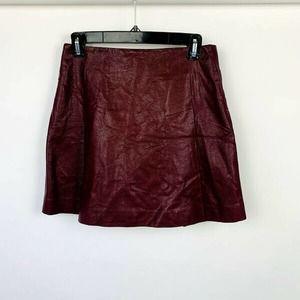 Pixley Faux Leather Mini Skirt